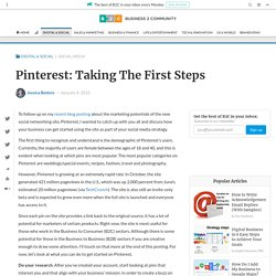 Pinterest: Taking The First Steps