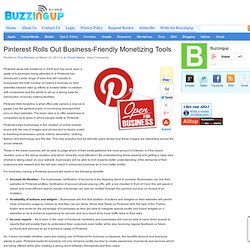 Pinterest Rolls Out Business-Friendly Monetizing Tools