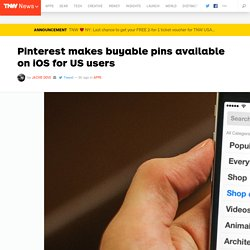 Pinterest makes buyable pins available on iOS for US users