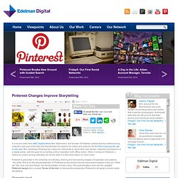 Pinterest Changes Improve Storytelling
