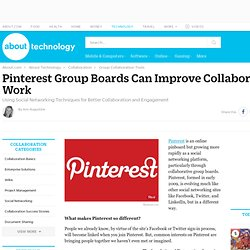 Pinterest Group Boards Can Improve Collaborative Work