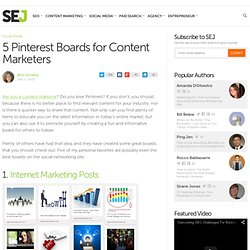 5 Pinterest Boards for Content Marketers