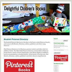 Bookish Pinterest Directory