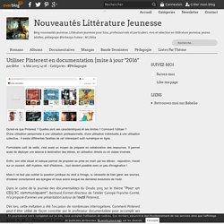 Utiliser Pinterest en documentation (blog Nouveaux Littérature Jeunesse)