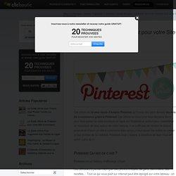 Le Guide Ultime de Pinterest pour votre Site Ecommerce
