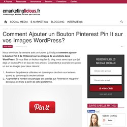 Comment Ajouter un Bouton Pinterest Pin It sur vos Images WordPress?