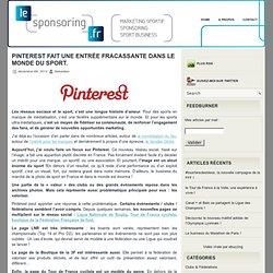 Pinterest fait son entrée dans le monde du sport