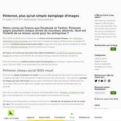 Pinterest, cas pratiques d'entreprises - Blog de L'Œil au Carré