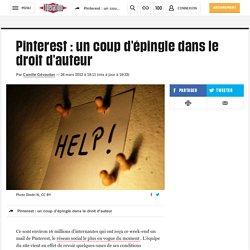 Pinterest : un coup d'épingle dans le droit d'auteur