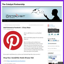 Add Pinterest to Facebook – 2 Easy Steps