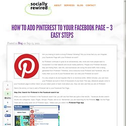 How to Add Pinterest to Your Facebook Page – 3 Easy Steps