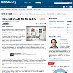 Pinterest should file for an IPO
