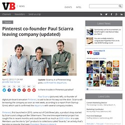 Pinterest co-founder Paul Sciarra said to be leaving company