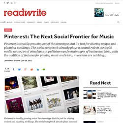 Pinterest: The Next Social Frontier for Music