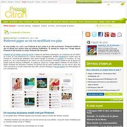 Pinterest gagne sa vie en modifiant vos pins