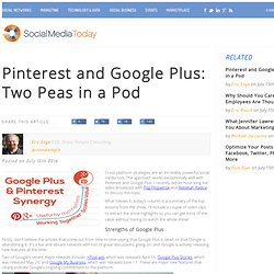 Pinterest and Google Plus: Two Peas in a Pod
