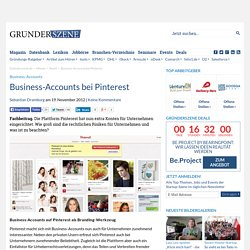 Business-Accounts bei Pinterest