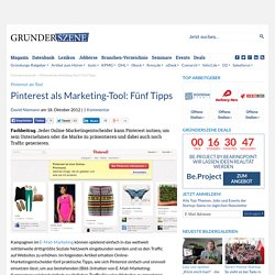 Pinterest als Marketing-Tool: fünf Tipps