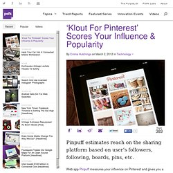 'Klout for Pinterest' Scores Your Influence and Popularity