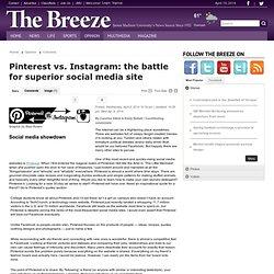 Pinterest vs. Instagram: the battle for superior social media site - The Breeze: Columns