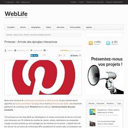 Pinterest : Arrivée des épingles interactives