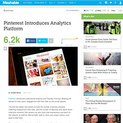 Pinterest Introduces Analytics Platform