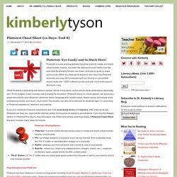 Pinterest Cheat Sheet {12 Days: Tool 8} l Dr. Kimberly's Literacy Blog