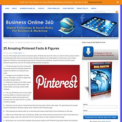 25 Amazing Pinterest Facts & Figures -Social Media Marketing, Facebook, Twitter, LinkedIn & Pinterest Marketing - Business Online 360