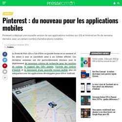 Pinterest : du nouveau pour les applications mobiles