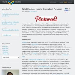 What Students Need to Know about Pinterest