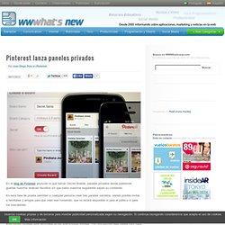Pinterest lanza paneles privados