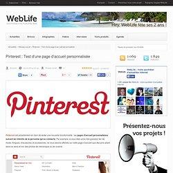 Pinterest : Test d'une page d'accueil personnalisée