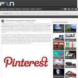 Pinterest teste une page d'accueil personnalisée