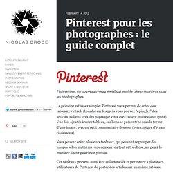Pinterest pour les photographes : le guide complet