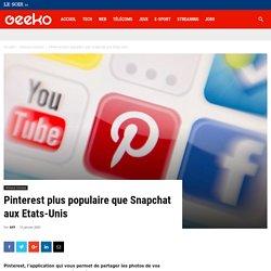 Pinterest plus populaire que Snapchat aux Etats-Unis