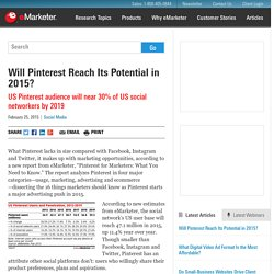 Will Pinterest Reach Its Potential in 2015?