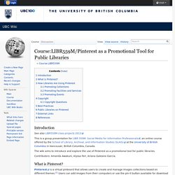 AB - Wiki - Pinterest as a Promotional Tool for Public Libraries