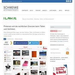 Pinterest und die rechtlichen Grenzen beim Teilen und Verlinken