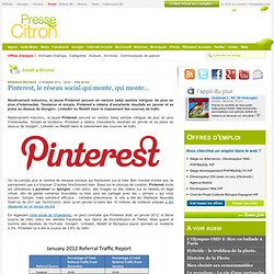 Pinterest redirige plus que Google+, LinkedIn et YouTube réunis