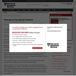 Pinterest as Free Market Research - Grant McCracken