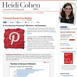 7 Pinterest Secrets From Retailers
