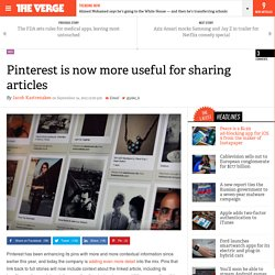 Pinterest is now more useful for sharing articles