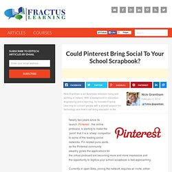 Could Pinterest Bring Social To Your School Scrapbook?