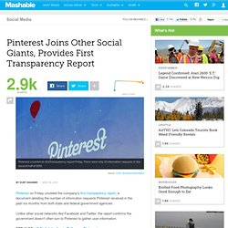 Pinterest Joins Other Social Giants, Provides First Transparency Report