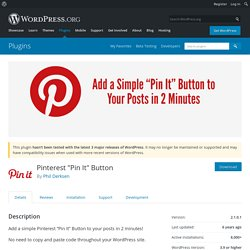 "Pinterest ""Pin It"" Button — WordPress Plugins"