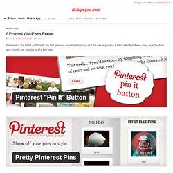 6 Pinterest WordPress Plugins