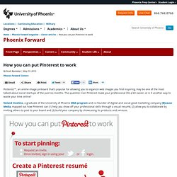 How you can put Pinterest to work