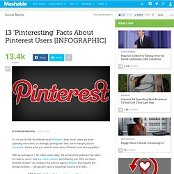 13 'Pinteresting' Facts About Pinterest Users [INFOGRAPHIC]