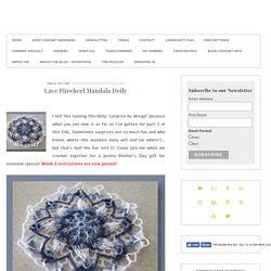 Lace Pinwheel Mandala Doily - Free Crochet-a-Long Doily Pattern