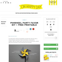 Pinwheel Party Favor DIY + Free Printable